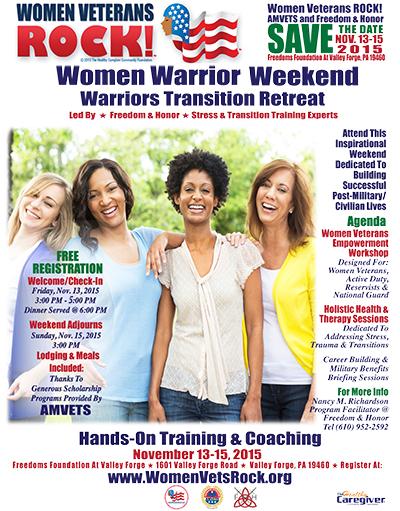 Women Veterans ROCK! Flyer