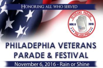 The Philadelphia Veterans Paradeon Sunday, November 6, 2016